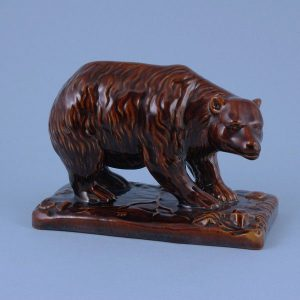 Brown Glazed Model of a Bear