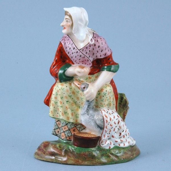 Minton Porcelain Mother Goose Figure.