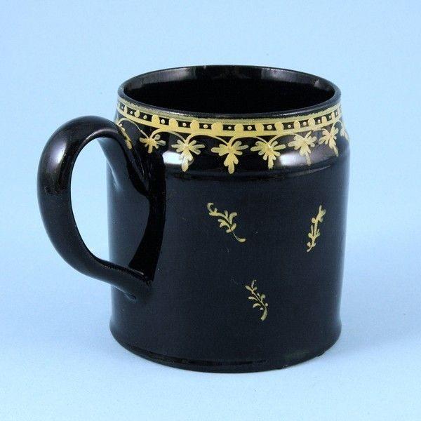 English Pottery Small 'Jackfield' Type Mug