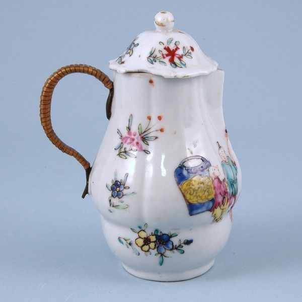 Chinese export Jug with Replacement Handle.