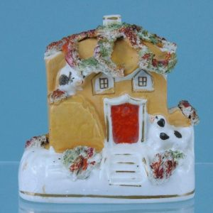 Antique Staffordshire Cottage Pastille Burner