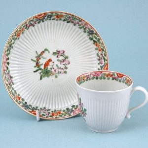 Pecking Parrot pattern coffee cup & saucer