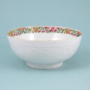 Worcester Porcelain 'Pecking Parrot' Pattern Bowl