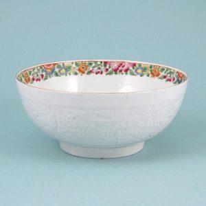 Worcester Porcelain 'Pecking Parrot' Pattern Bowl