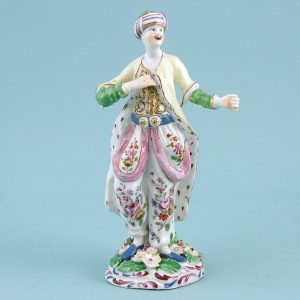 Early Bow Porcelain Figure of a Turk