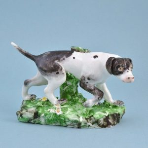 18th Century Derby Porcelain Model of a Pointer