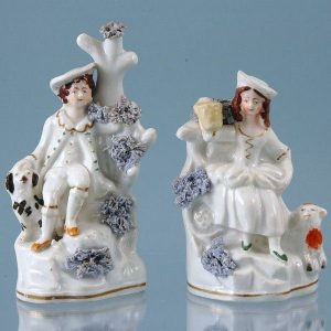 Pair of Staffordshire (Dudson) Shepherd & Shepherdess