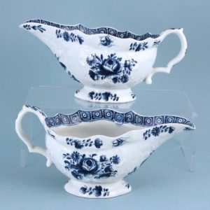 Pair of Bow porcelain Sauce Boats