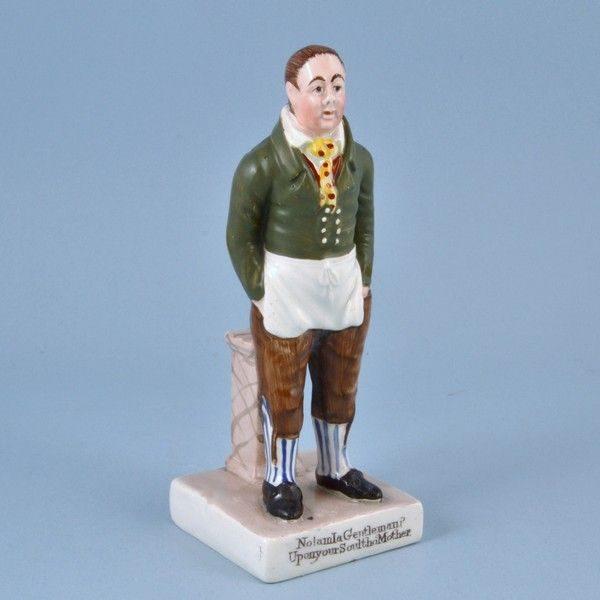 Staffordshire Pottery Theatrical Figure of John Liston as Sam Swipes.