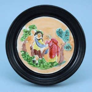 Staffordshire Pottery Circular Plaque.