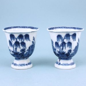 Pair of Chinese Export porcelain Beakers