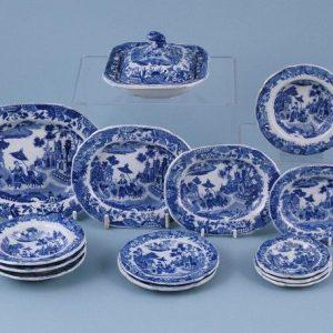 Staffordshire Pottery (Minton) Miniature Dinner Service