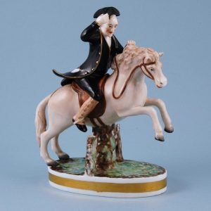 Derby Porcelain Figure of Dr Syntax Riding