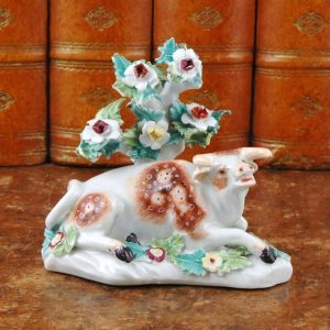 Derby Porcelain Model of a Cow. (a)