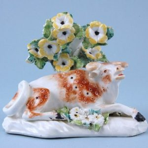 Derby Porcelain Model of a Cow (b)