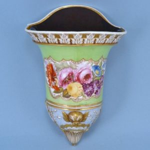 Unusual English Porcelain Wall Pocket