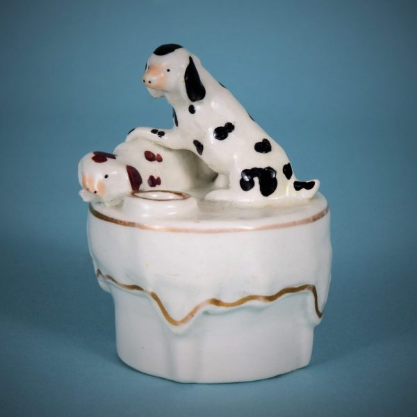 Staffordshire Miniature Dogs on Table