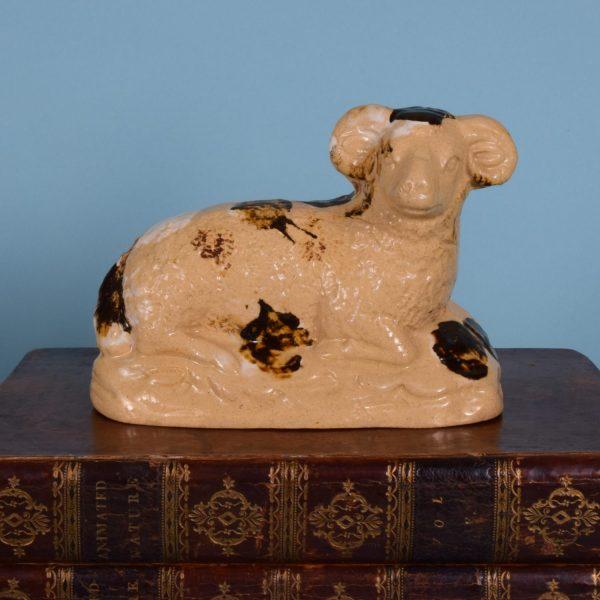 English Pottery Ram