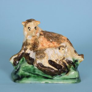 Pratt ware Sheep With Lamb