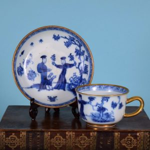 Chinese Export Porcelain Tea Cup & Saucer