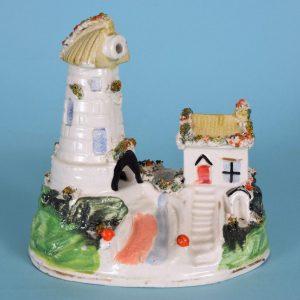 Staffordshire Porcelain Windmill