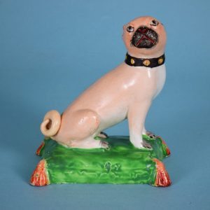 Staffordshire Pottery Pug Dog