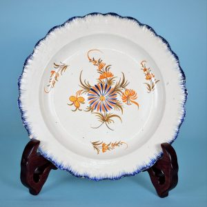 Pearlware Feather Edge Plate - Floral