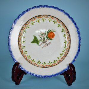 Pearlware Feather edge Plate - Fruit.