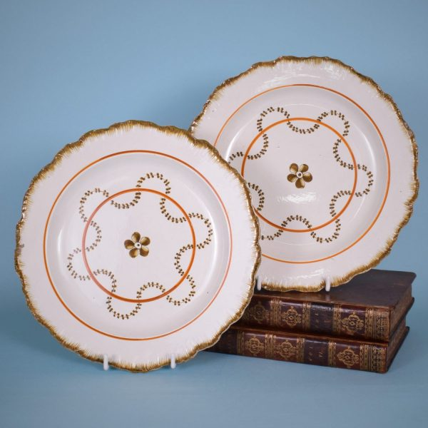 Pair of Pearlware Feather Edge Plates.