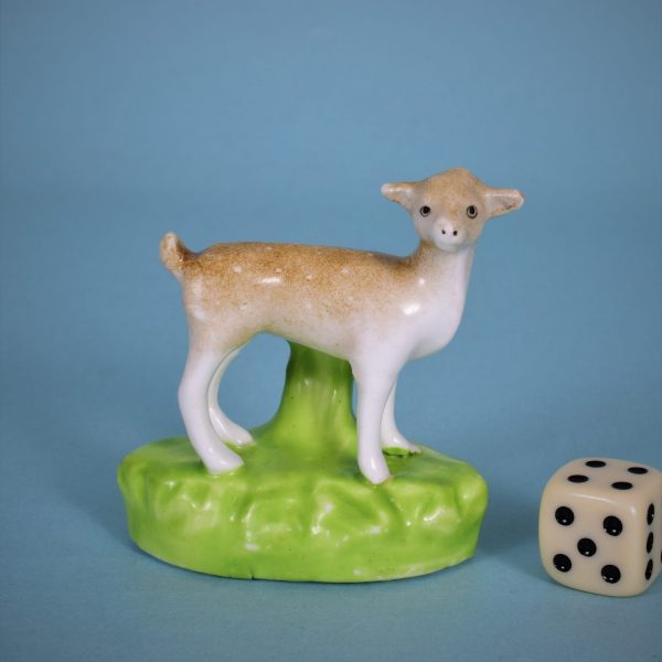 Staffordshire Porcelain Miniature Deer.