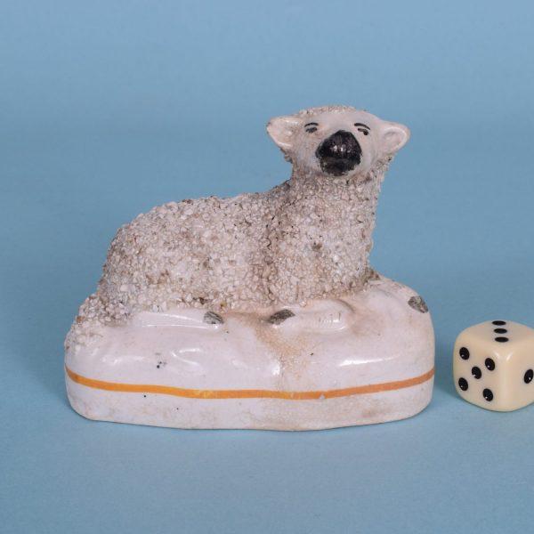 Victorian Staffordshire Sheep (15446)