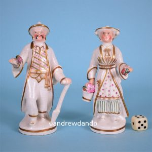 Pair of Staffordshire 'Chinese Gardeners' (wg)