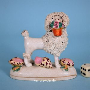 Staffordshire Poodle with Sea Shells.