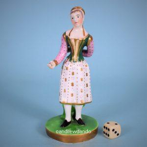 Porcelain Figure of a Broom Seller.