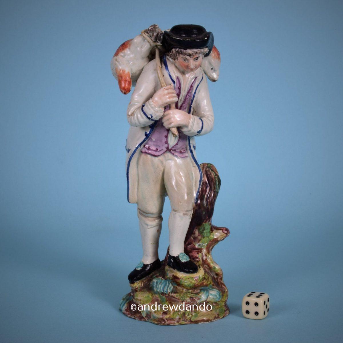 Staffordshire Pottery Figure of a Shepherd (15279)