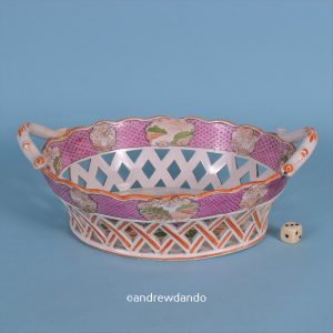 Pearlware Chinoiserie Basket (af)
