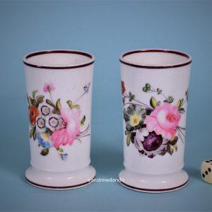 English Porcelain Spill vases