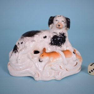 Staffordshire Spaniel with Hare.