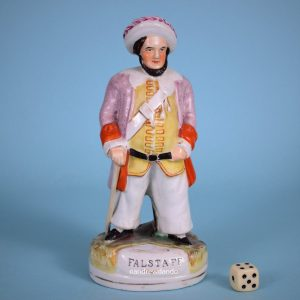 Victorian Staffordshire figure of Falstaff