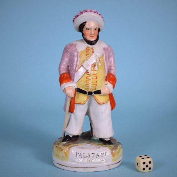 Victorian Staffordshire figure of Falstaff