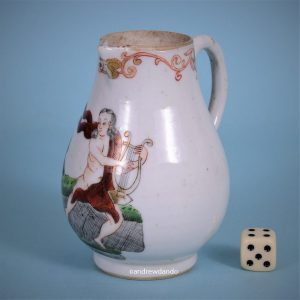Chinese Export Porcelain Cream Jug with European Figures
