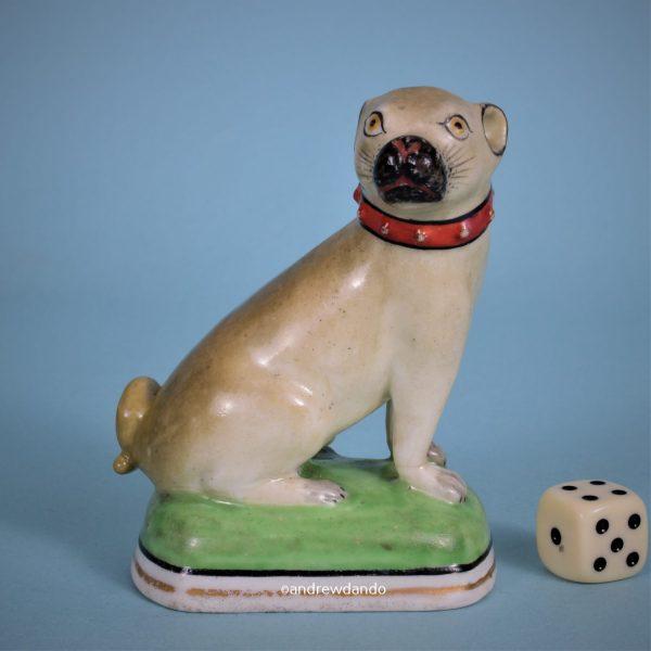 English Porcelain Pug Dog