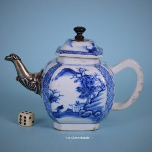 Kangxi Period Teapot with 'silver' replacement Spout