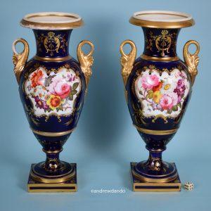 Pair of Coalport Vases