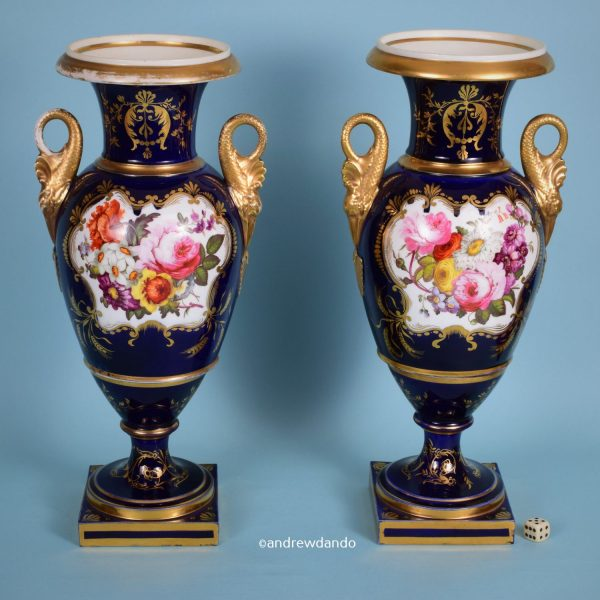Pair of Coalport Vases