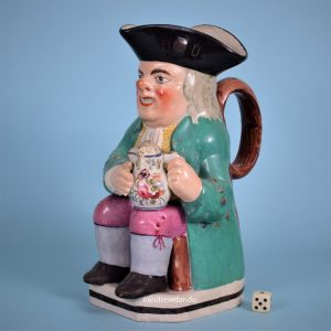 19th Century English Pottery Toby Jug