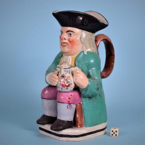 19th Century English Pottery Toby Jug