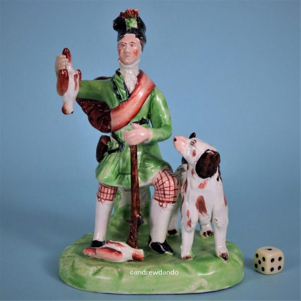 Staffordshire Pottery Figure of a Scottish Hunter