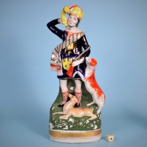 Large Staffordshire Figure of a Hunter.