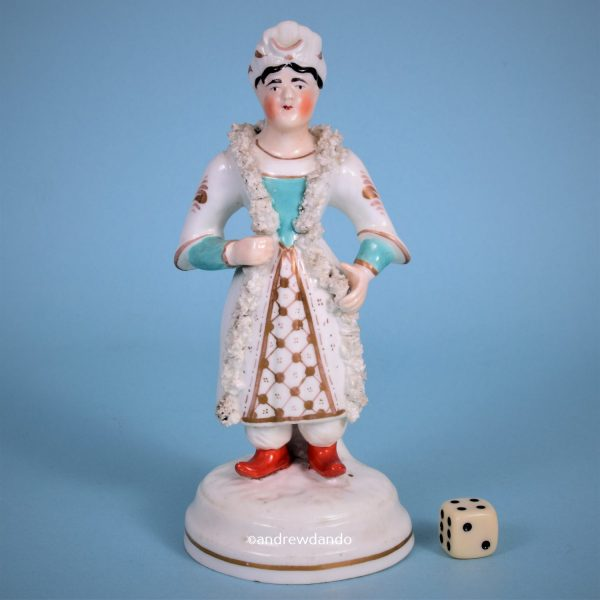 Staffordshire Figure of a Man in Turkish Costume
